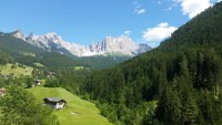 To the alp of Siusi by cable car and chair lift