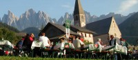 The speck festival of Santa Maddalena in the Funes Valley